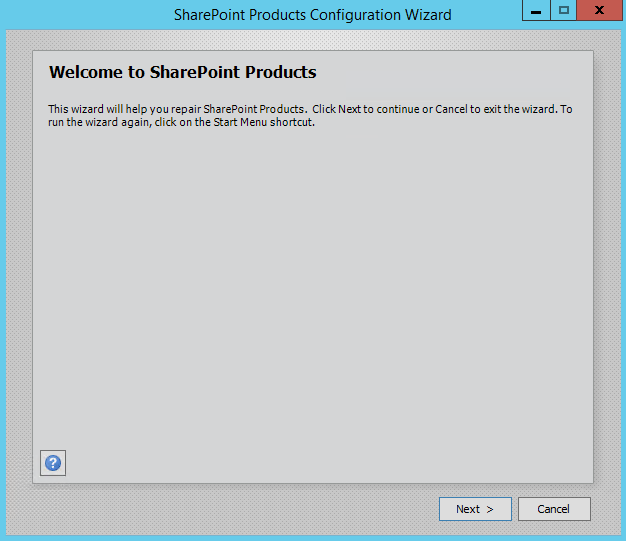 SharePoint Product Configuration