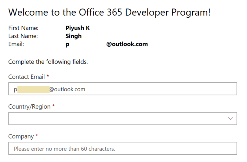 Office 365 Developer Program