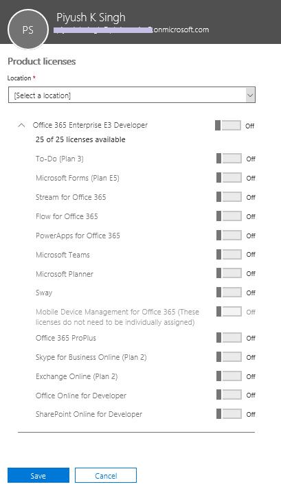 Office 365 Enterprise E3 Developer