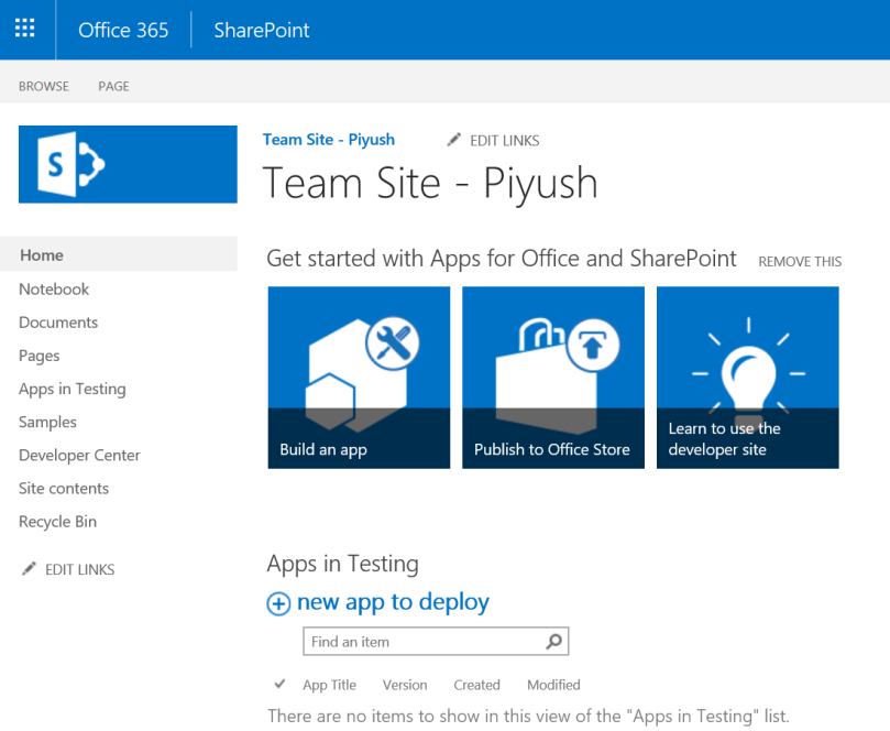 SharePoint Team Sites