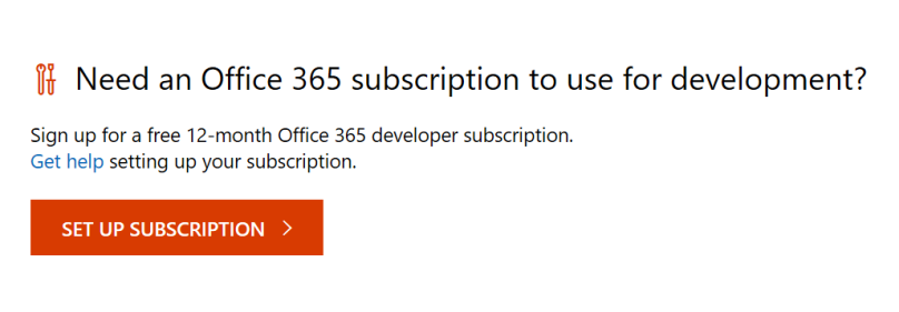 SET UP SUBSCRIPTION Office 365