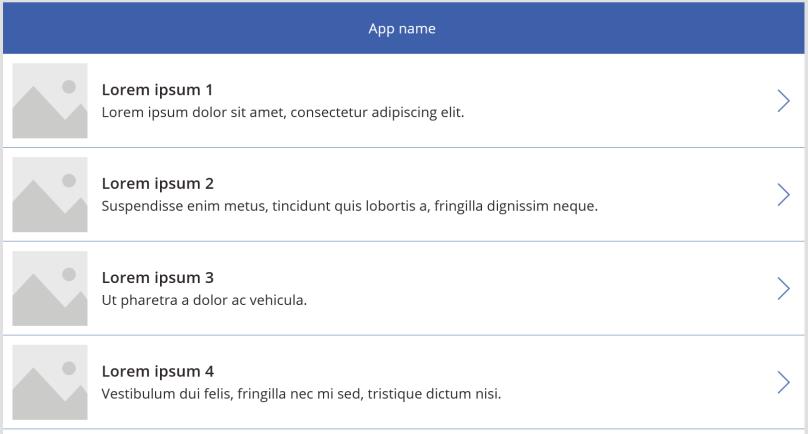PowerApps List Screen