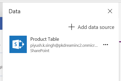 PowerApps SharePoint Data Source