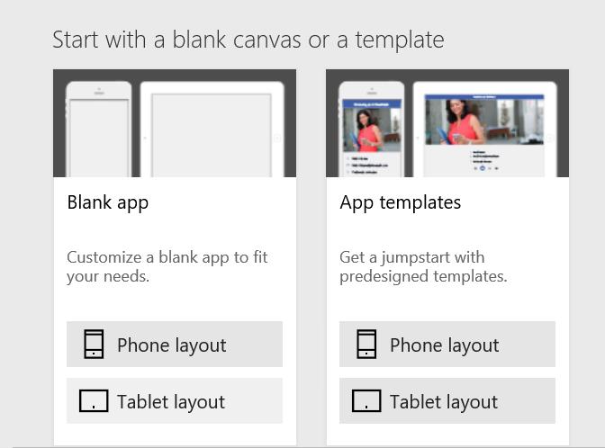 PowerApps Blank App