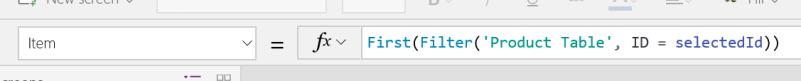 PowerApps Filter FormViewer