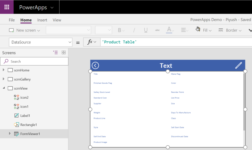 PowerApps FormViewer