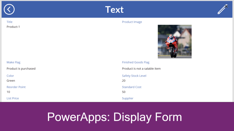 PowerApps add a Display Form – Piyush K Singh
