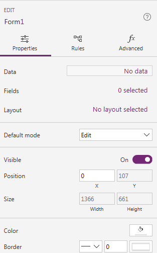 PowerApps: Edit Form Data Source