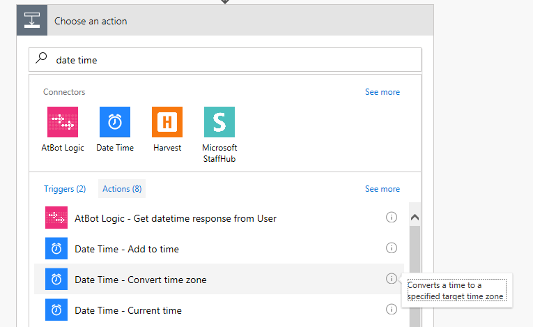 MS Flow Convert time zone
