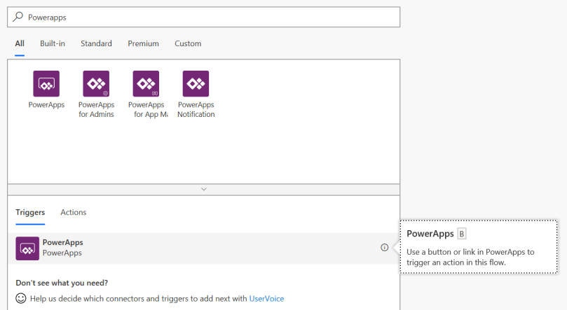 MS Flow: PowerApps Trigger