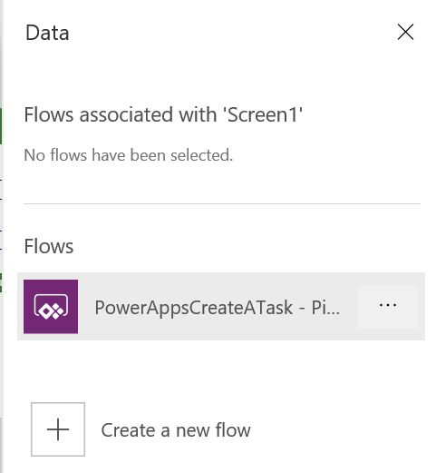 PowerApps: Select Flow