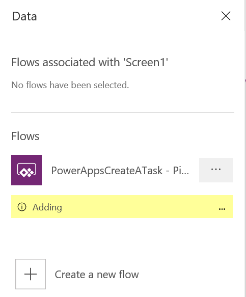 PowerApps: Adding Flow