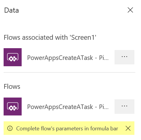 PowerApps: Flows Parameter Prompt