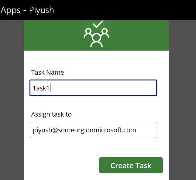 PowerApps: Create Task