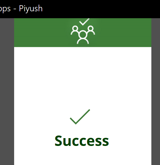 PowerApps: Success