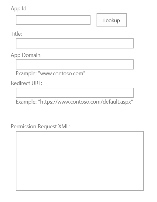 AppInv form