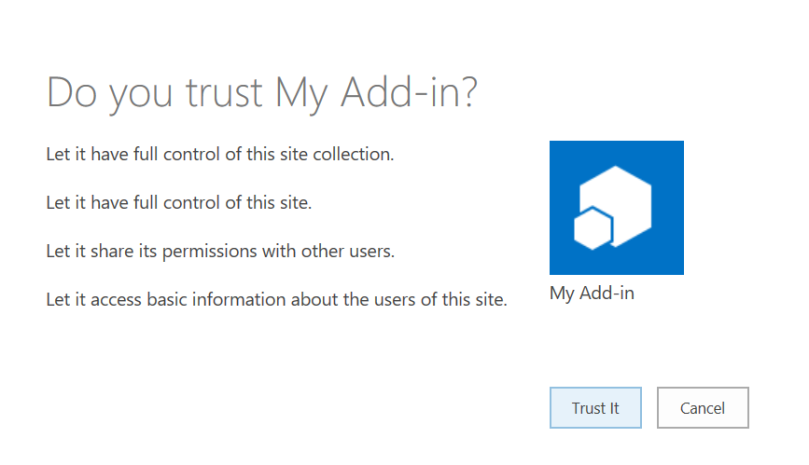 Trust SharePoint Add-In