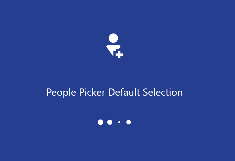 PowerApps People Picker default selection
