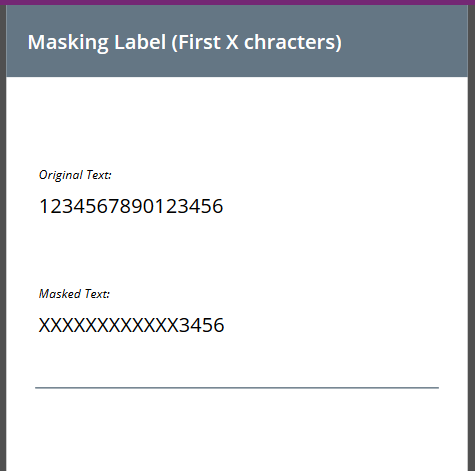 PowerApps: Masked Label