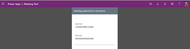 PowerApps Masking Controls