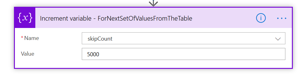 Power Automate Increment variable