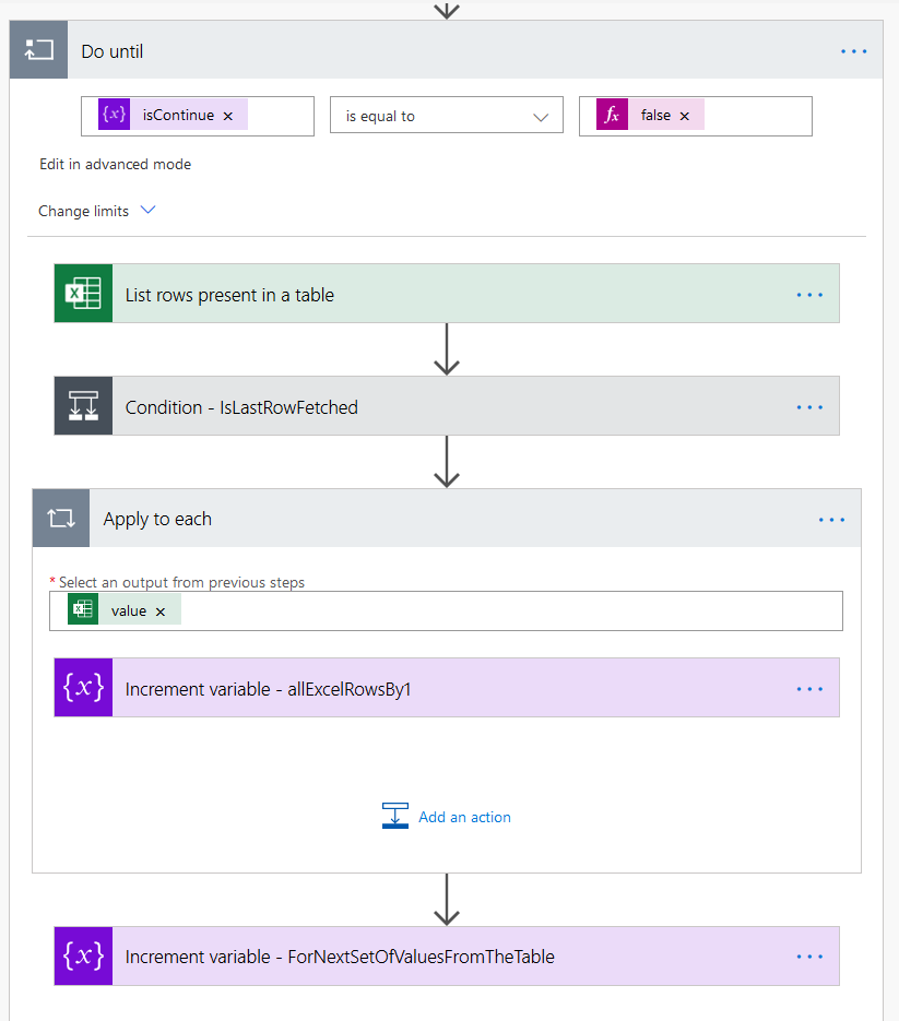 Power Automate Parse Large Excel File