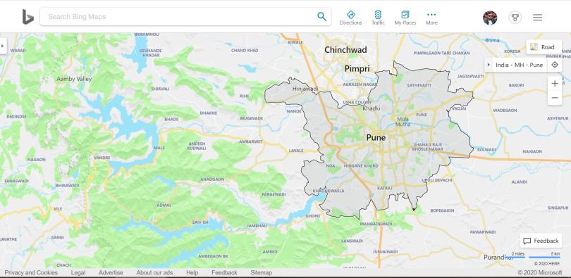 Bing Maps Pune