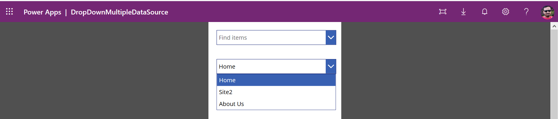 PowerApps Drop down conditional values