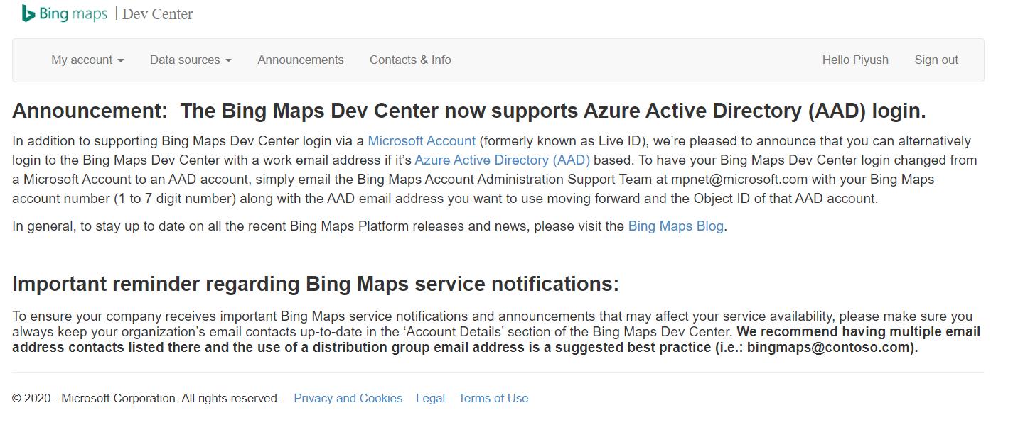 Bing Maps API Home Page