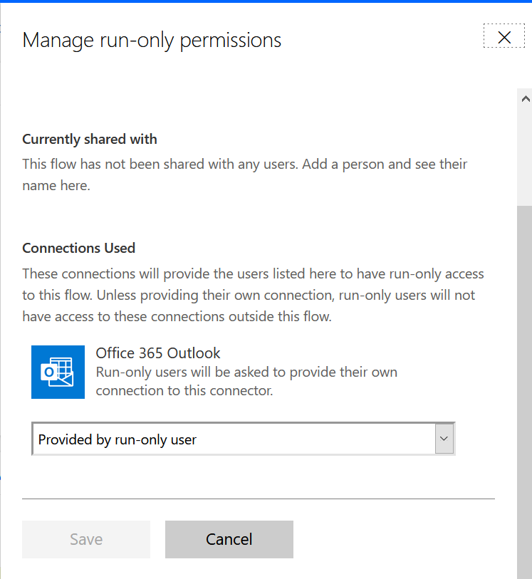 MS Power Automate: Connection